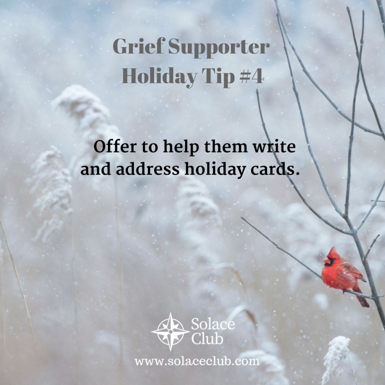 Grief Supporter Holiday Tip 4